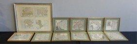 1: Lot of Framed Antique Maps.