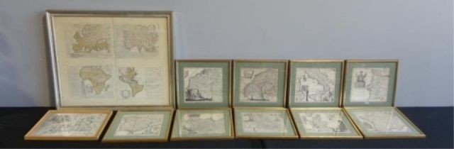 1: Lot of Framed Antique Maps.