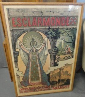 2: Art Nouveau Esclarmonde Poster.