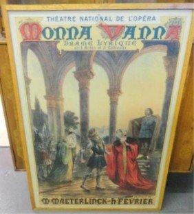 "French Opera Poster ""Maeter Monna Vanna""."