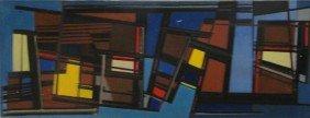 11: SCHMIDT, Allan. 1956 O/C Abstract Composition.