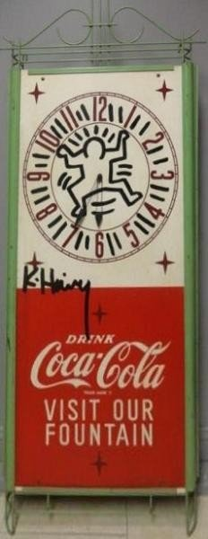 14: Keith Haring Coca Cola Clock.