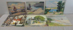 15: NEWMAN, Joseph. 6 O/B Coastal Landscapes and