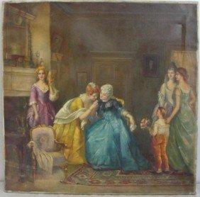 NEWMAN, Joseph. O/C Victorian Interior Scene With