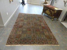 23A: Antique Handmade Picture Carpet .