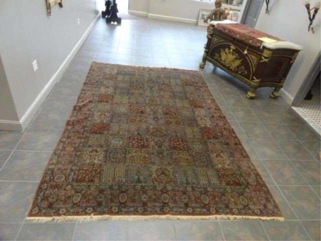 23A: Antique Handmade Picture Carpet .