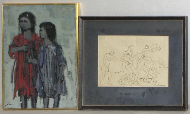 6: CABANISS O/C together with a Signed 1944 Drawing.