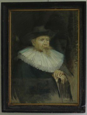 9: FROMKES, Maurice. 1904 Pastel Portrait of a Man.