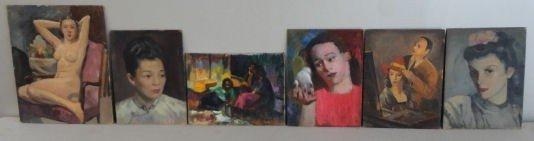 18: NEWMAN, Joseph. 6 Oils on Board. Portraits and