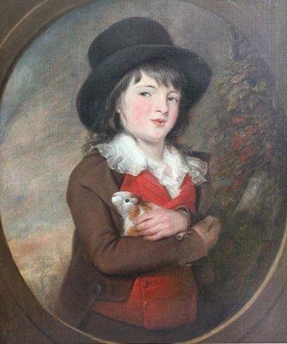 21: After Henry Morland. O/C Boy with Guinea Pig.