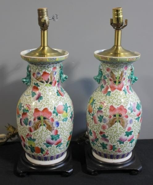 6: Pair of Chinese Vase/Lamps.