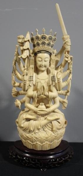 7: Ivory Figural Bodhisattva.