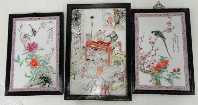 10: Three Chinese Porcelain Plaques.