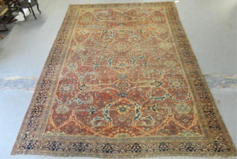 50: Ferahan Sarouk (?) Estate Antique Carpet.