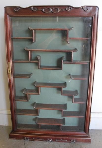 1: Chinese Hardwood Wall Cabinet.
