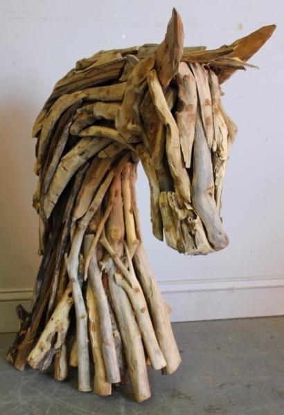 3: Driftwood Horse Head Sculpture.