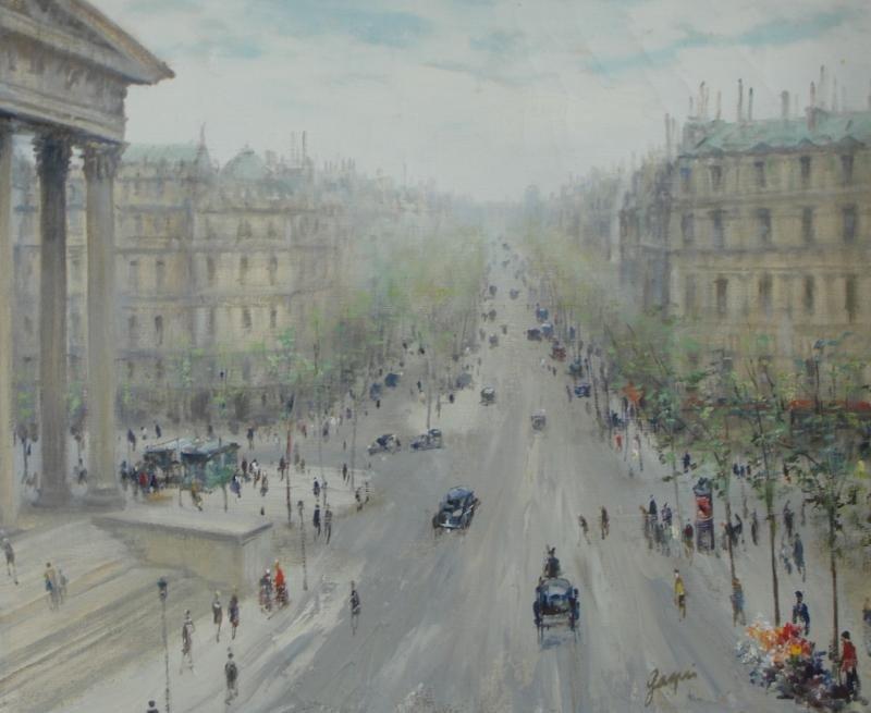 "12: GAGNI, Paul. O/C ""Boulevard Madeleine."""