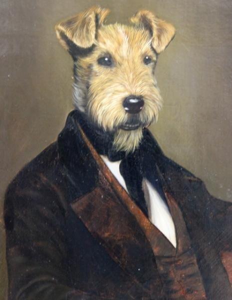 23: PONCELET, Thierry. O/C Portrait of a Terrier.