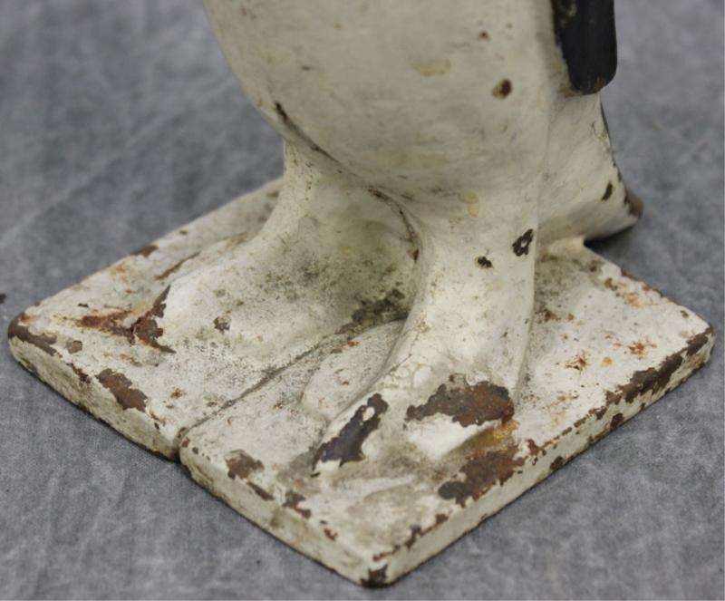 163: Vintage Cast Iron Penguin Doorstop. - 3