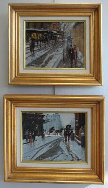1: TAMMARO, Francesco. Pair of O/P Street Scenes.