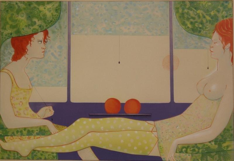 4: FINI, Leonor. Lithograph of Two Women.