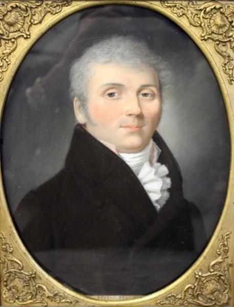 7: 19th Century Pastel on Vellum of a Gentlemen.