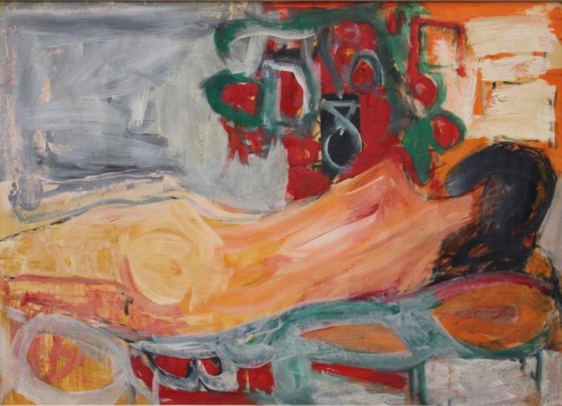 12: ARGOV, Michael. 1964 Oil on Paper Laid on Cardboard