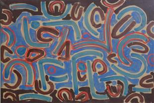 15: LAPICQUE, Charles. 1947 Abstract Gouache.