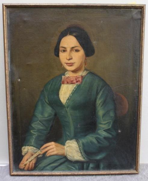 23: 19th Century Portrait of a Woman Holding a Fan.