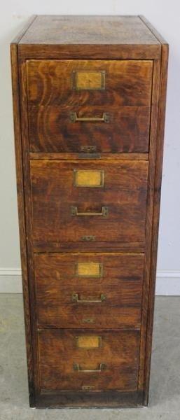 100 vintage oak 4 drawer file cabinet rh liveauctioneers com Antique Oak 4 Drawer File Cabinet Wood 3 Drawer Oak File Cabinets