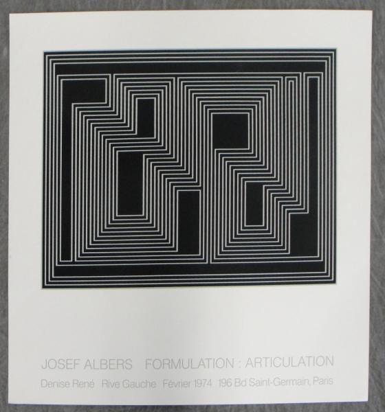 3: ALBERS, Josef. Formulation: Articulation Serigraph