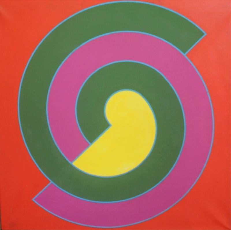 6: CAMACHO, Paul. 1968 Geometric Oil on Canvas.