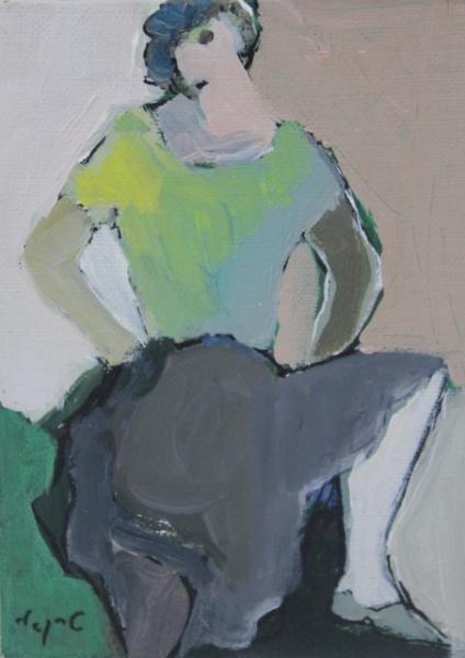 15: TARKAY, Itzak. Oil on Canvas Board.