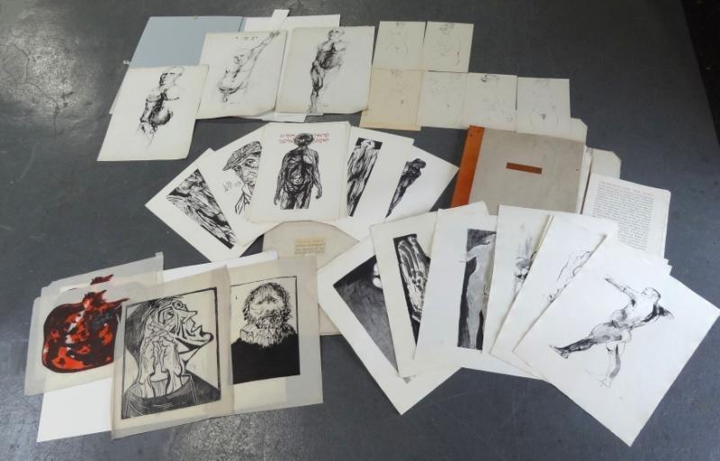 3: BASKIN, Leonard. Large Lot of Prints Incl. 2