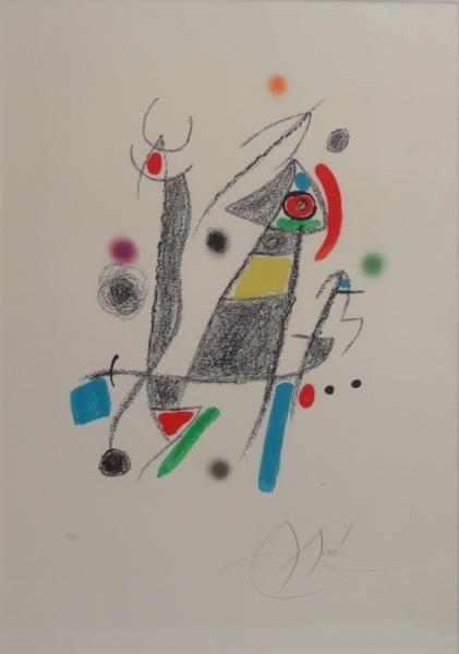 """4: MIRO. Pencil Signed Lithograph. """"Maravillas."""""""