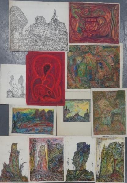 10: DI GIOVANNO, Hermon. 12 Works on Paper.