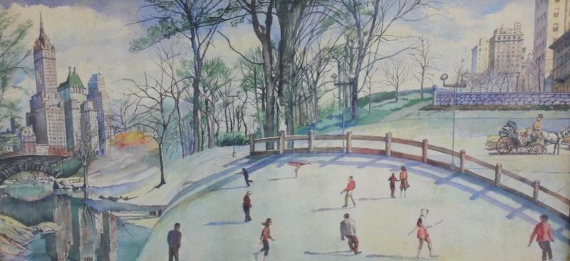 15: BUONGIORNO. W/C of Central Park (?) Ice Skaters.