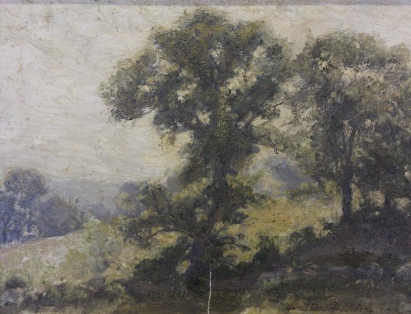 20: HAMILTON, Hamilton. Landscape Oil on Artist Board.