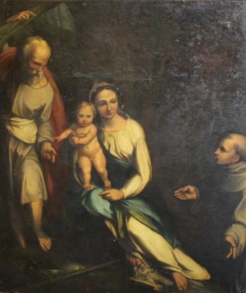 23: 19th Century or Earlier Oil on Canvas of Madonna
