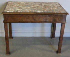 19th Century Marbletop Dough Table.