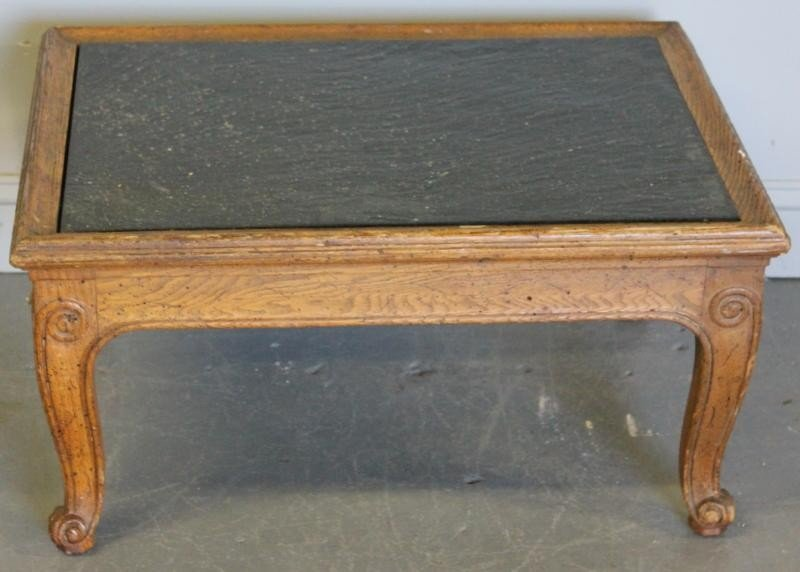 78: Louis XV Style Slate Top Coffee Table.