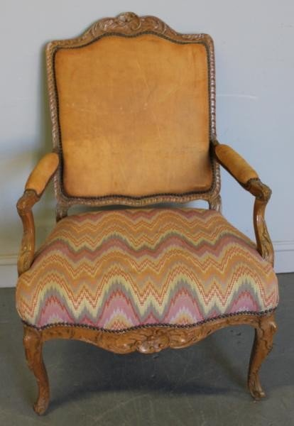 82: Vintage French Louis XV Armchair.