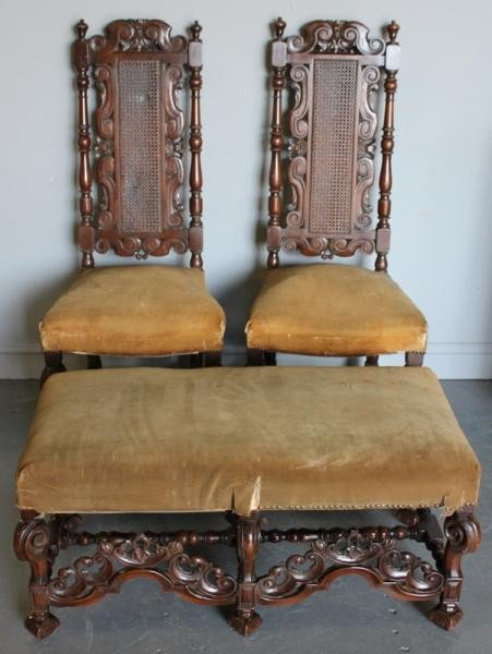 84: Pair of William and Mary Style Chairs with
