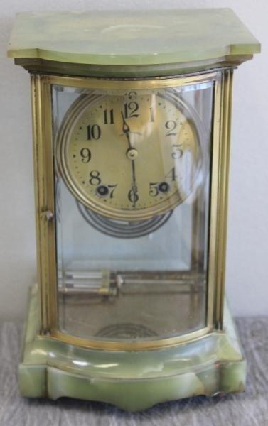 157: Seth Thomas Onyx and Crystal Regulator Clock with