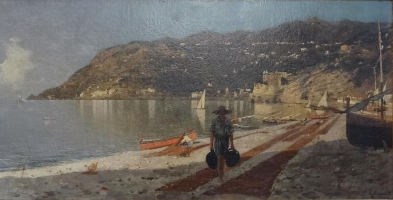 23: CAPONE, Gaetano. O/C  Italian Coast with Figure