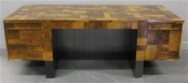 Paul Evans Cityscape Twin Pedestal Desk.