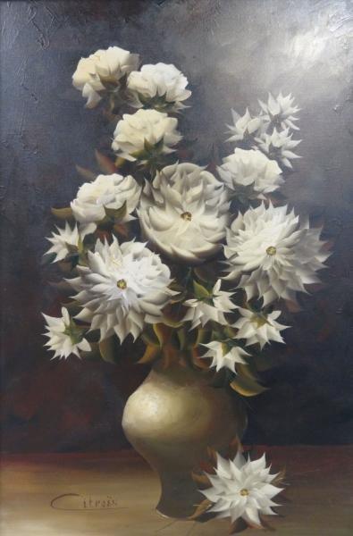 1: CITROEN, Paul. O/C Floral Still Life.