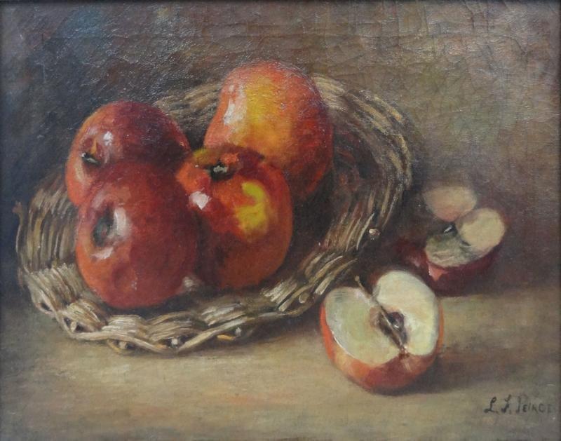 2: PEIRCE, L.F. O/C Basket of Apples Still Life.