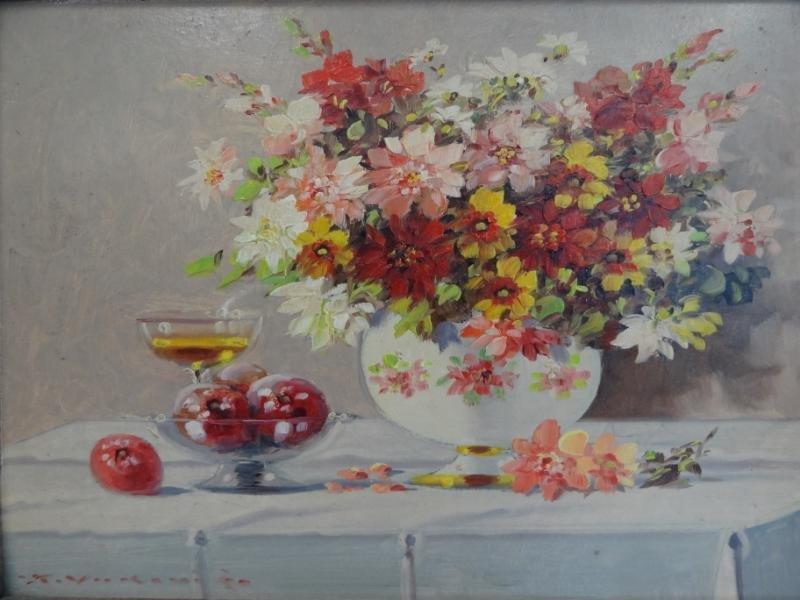 3: VUKOVIC, KEIST. O/B Still Life with Flowers &