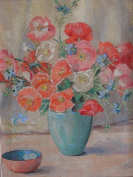 6: Oil on Canvas Floral Still Life.